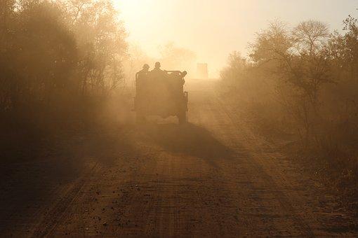 Safari, Africa, Jeep, Sunlight, Nature