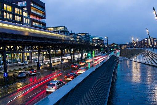 Bridge, City, Architecture, Building, Water, Street