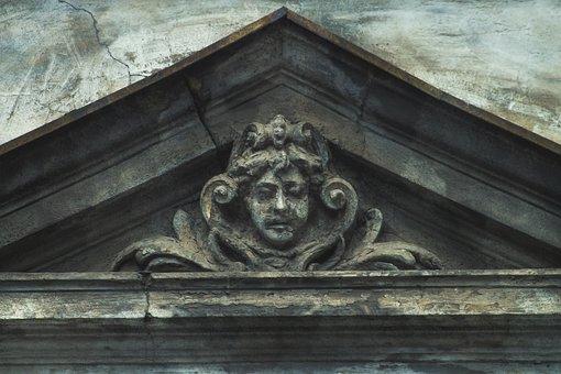 Architecture, Maszkaron, Detail Of, Closeup, Bow