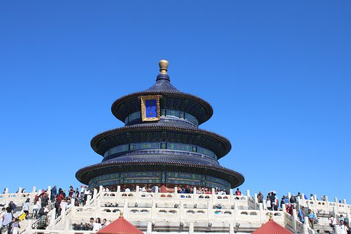 China, Beijing, Temple Of Heaven, Archways, Asia