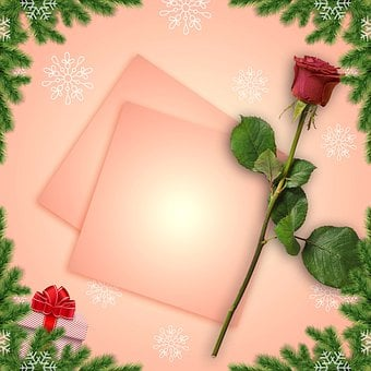 Card, Christmas Card, Spend, Wishes, Background, Postal