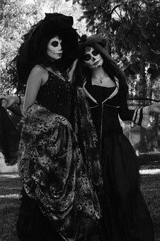Death, Day, Muertos, Día, De, Dark, Black And White