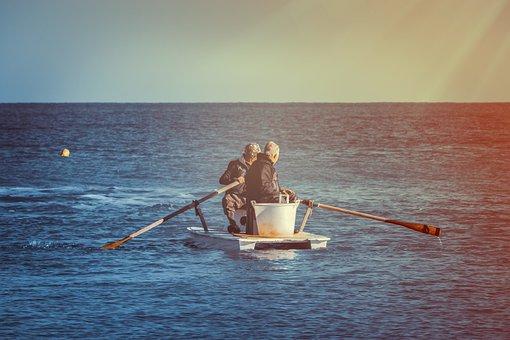 Sea, Boat, Sunset, Water, Sky, Ocean, Ship, Blue, Lake