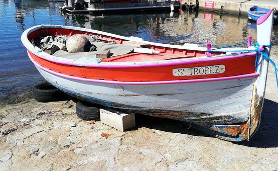 Fishing Boat, St Tropez, France, Boat, Mediterranean