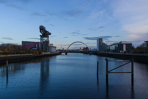 Glasgow, Port, Architecture, Crane, Building, Structure
