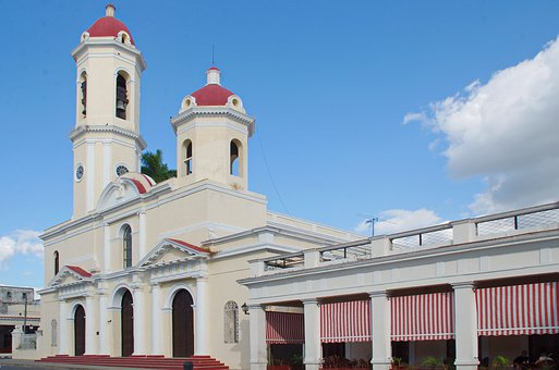 Cuba, Trinidad, Cathedral, Steeples, Architecture