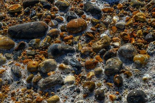 Stones, Pebbles, Beach, Coast, Bank