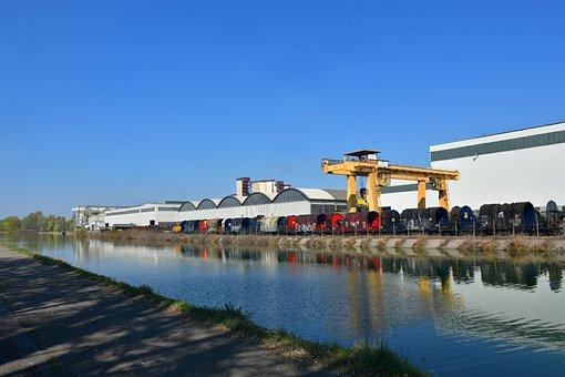 Mill, Cois, Steel, Train, Work