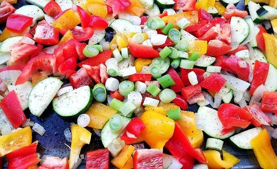 Vegetables, Grill, Paprika, Colorful, Food, Eat, Cook