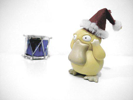 Duck, Christmas, Drum, Sweetness, Comic, Ave, Pokemon
