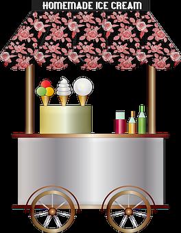 Ice Cream Cart, Ice Cream, Shabby Chic, Chrome
