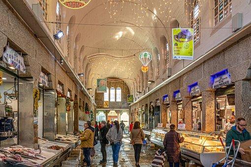 Market, Supplies, Fish, Fresh, Christmas