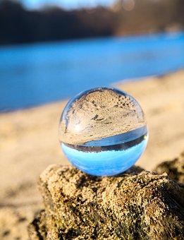 Mirroring, Upside Down, Beach, Sand, River, Nature