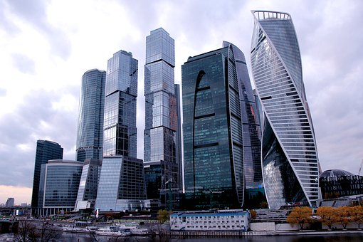 Moscow City, Skyscrapers, Moscow, Architecture
