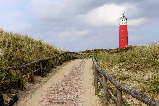 Lighthouse, Texel, Holland, North Sea, Netherlands