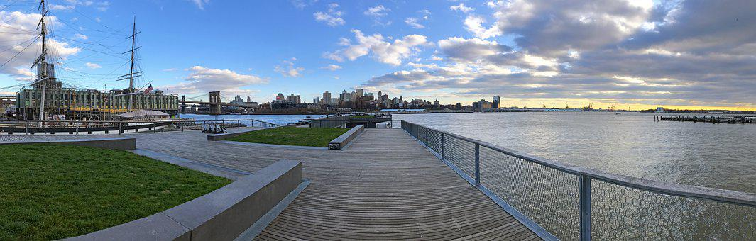 New York, Nyc, City, Urban, Skyline, Brooklyn, River