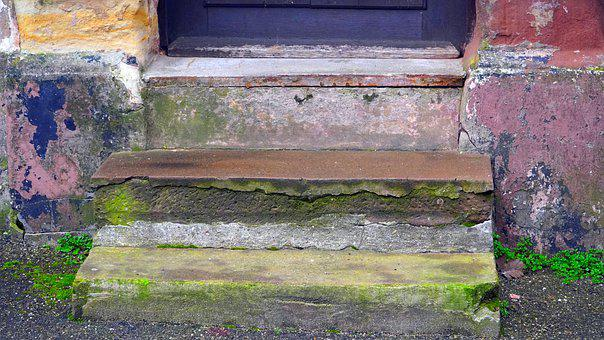 Stairs, Old, Lapsed, Emergence, Staircase, Stone