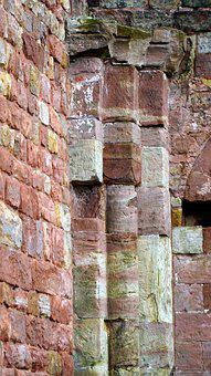 Old, Historically, Architecture, Columnar, Wall