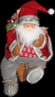 Santa Claus, Christmas, Red, Decoration, December