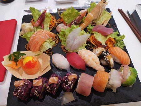 Sushi, Restaurant, Food, Japan, Salmon, Japanese