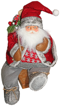 Santa Claus, Christmas, Red, Decoration, December
