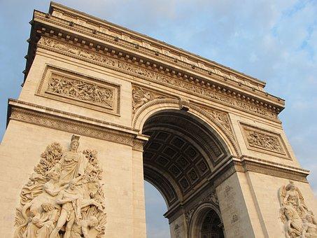 Arch Of Triumph, Paris, Summer, Sidebar, France, Light