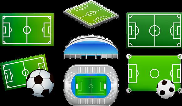 Soccer Field, Football Arena, Soccer Ball, Stadium
