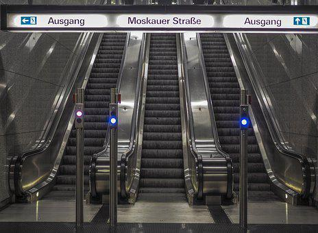 Escalator, Metro, Stairs, Railway Station, Architecture