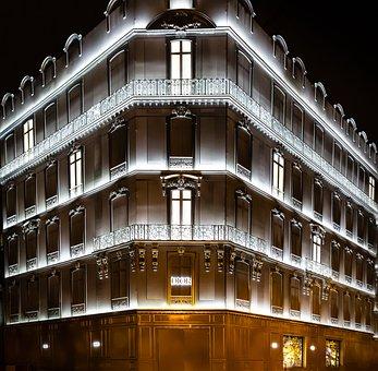 Void, Paris, Avenue, Monument, Urban, Building, Street