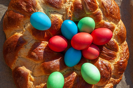 Easter, Easter Bread, Easter Eggs, Tradition, Colorful