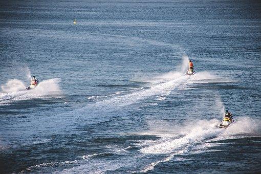 Jet Ski, Sport, Activity, Water Sports, Sea, Vacations