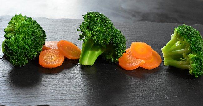 Broccoli, Carrots, Vegetables, Vegan, Vegetarian