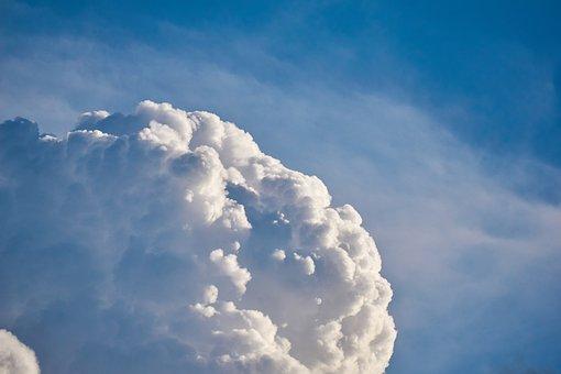 Clouds, Sky, Weather, Blue, Veil, Thunderstorm, Drama