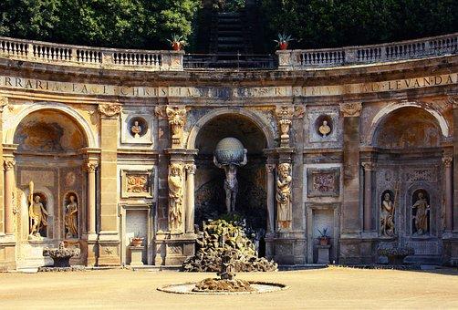Aldobrandini, Italy, Frascati, Villa, Formal Garden