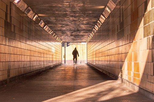 Tunnel, Walk, Pedestrian, Subway, Corridor