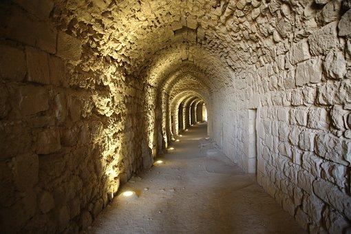 Tunnel, Old, Light, Travel, Wall, Underground, Stone