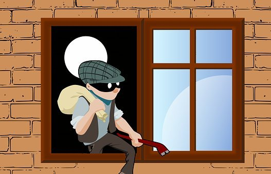 Thief, Steal, House, Window, Climbs, Stealing, Concept