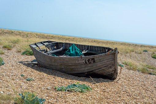 Dungeness, Abandoned, Wreck, United Kingdom, Uk, Boat