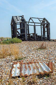 Dungeness, Abandoned, Wreck, United Kingdom, Uk, Boat