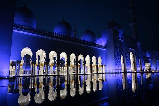Mosque, Abu Dhabi, Islam, Orient, Architecture, Travel