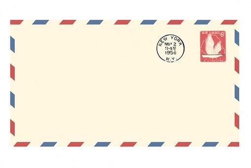 Airmail Envelope, Vintage, Airmail
