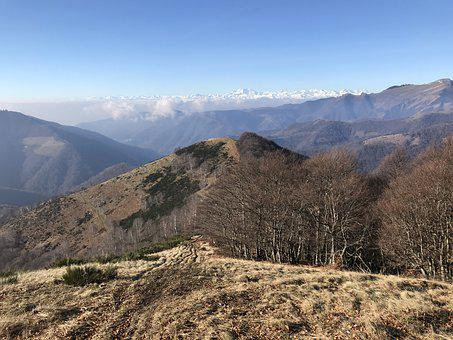 Panorama From Monte San Bernardo, Alpine Route, Alps