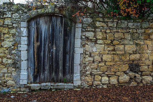 Door, Old, Wooden, Rustic, Wall, Stone, Architecture