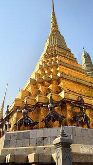 Thailand, Bangkok, Temple Of The Emerald Buddha, Asia