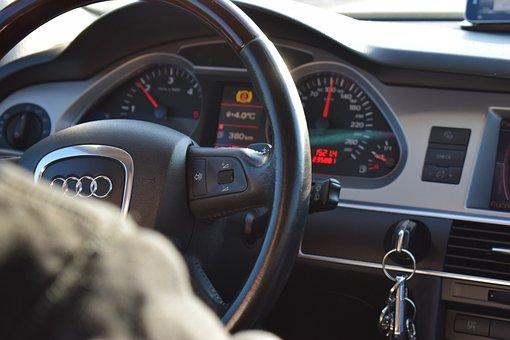 Audi, Allroad, Steering Wheel, Automobile, Auto