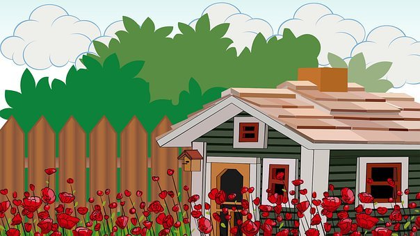 Shack, Home, House, Garden, Bush