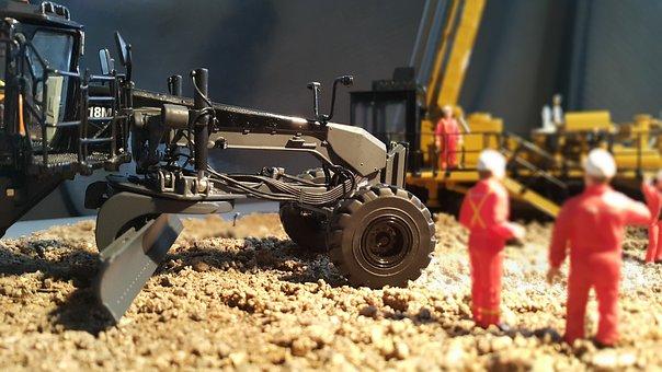 Grader, Caterpillar, Earthmoving, Construction, Site