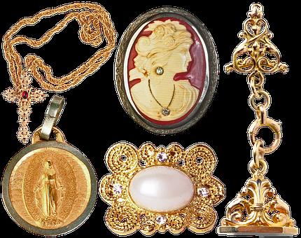 Jewelry, Pendant, Cross, Chain, Brooch