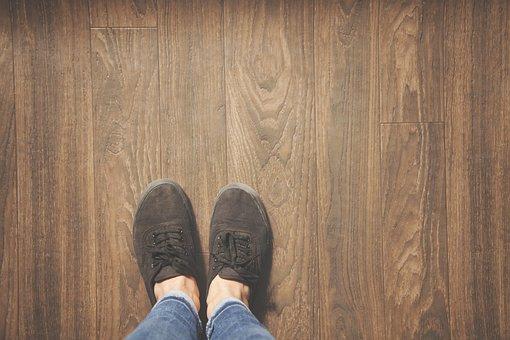 Feet, Foot, Wood, Floor, Down, Alone