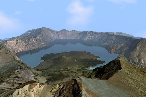 Crater, Volcano, Volcanic, Earthquake, Mountain